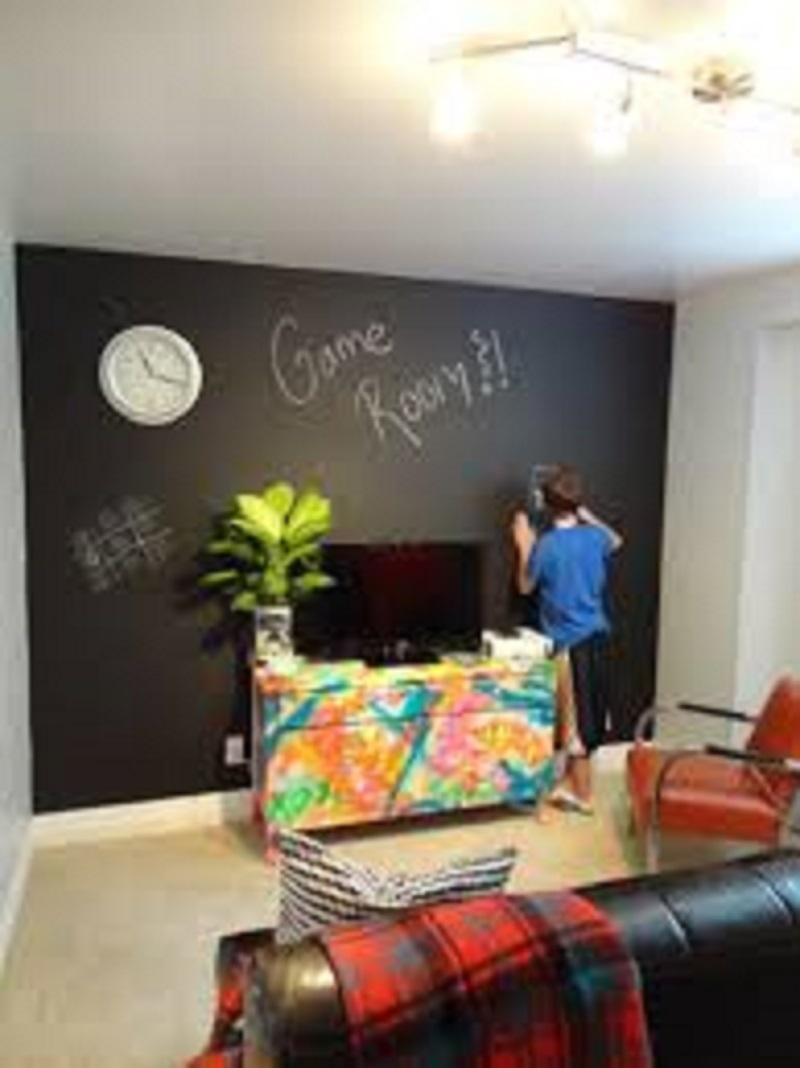 kids chalk wall